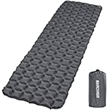 MARCHWAY Ultralight Inflatable Sleeping Pad, Durable Compact Portable Camping Air Mat for Outdoor Hiking Backpacking Traveling (Grey)