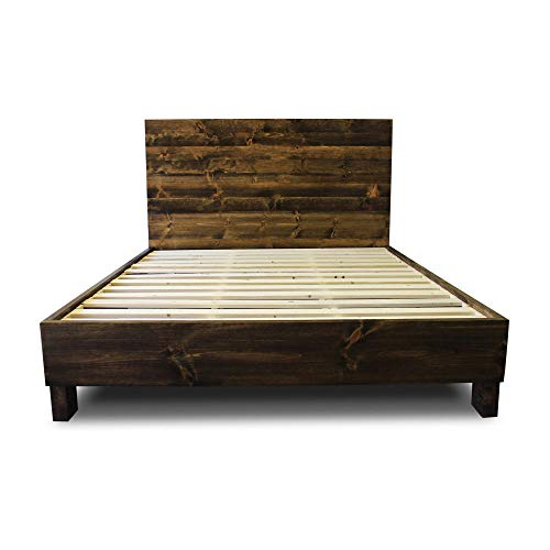 - Farmhouse Bed Frame and Headboard Set/Reclaimed Style/Rustic and old world