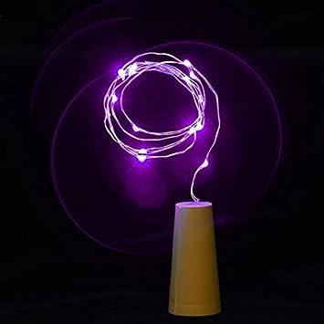 Bombillas de alambre de cobre de 80 cm con luces LED para botellas, 8 cuerdas de vino: Amazon.es: Salud y cuidado personal
