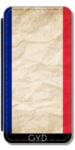 Leder Flip Case Tasche Hülle für Apple Iphone 7 Plus / 8 Plus - Frankreich Paris Flagge by WonderfulDreamPicture