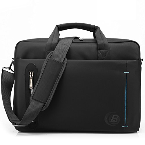 CoolBell(TM)15.6 inch Laptop Bag With strap Messenger Bag Single-shoulder Handle bag Briefcase Nylon Cloth Waterproof Multi-compartment For iPad Pro/Macbook/Asus/Lenovo for Men/ Women/Business (Black)