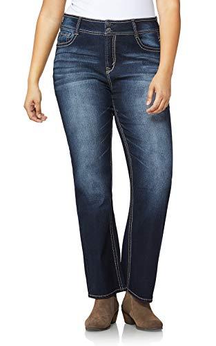 WallFlower Junior's Plus-Size InstaStretch Luscious Curvy Bootcut Jeans, Betsy, 18 Plus