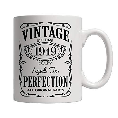 (70th Birthday Gifts for Men and Women - Funny Vintage Anniversary Gift Ideas for Dad, Mom, Husband or Wife - Party Decorations for Him or Her Ceramic Coffee Mug Tea)