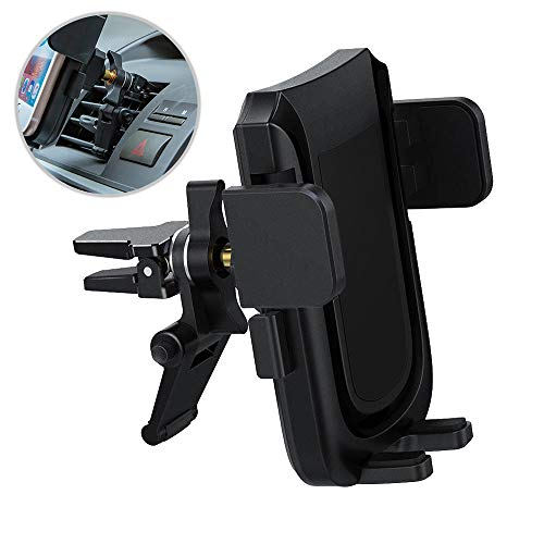Car Phone Mount,Uverbon Air Vent Car Holder with Aluminum Horder for iPhone XS Max X 8 7 Plus 6s 6 Plus,Samsung Galaxy S9 Plus S8 Edge S7 S6 Note 8, LG and More.