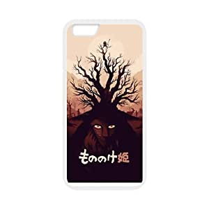 Princess Mononoke Pattern Solid Rubber Customized Cover Case for iPhone 6 4.7