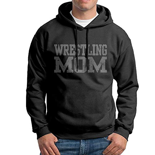 Arsmt Hooded Sweatshirt Male Classic Pullover Fleece Hoodie Wrestling Mom by Arsmt