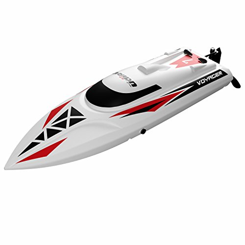 "science toys for girls Remote Control RC Boat Toy - ""UDI007 Voyager"" Remote Control Boat for Lakes and Pools with 2 Batteries 18 MPH Max Speed and Anti Tilt Hull for RC Boats"