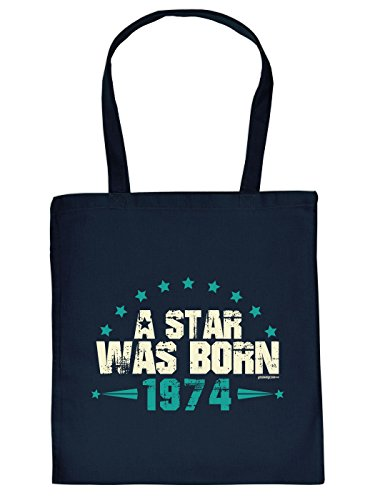 Geschenkidee zum 40. Geburtstag: Unisex Jutetasche/ Einkaufstasche/ Stoffbeutel/ A Star Was Born 1974
