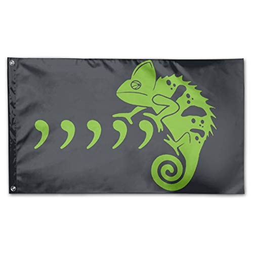 - WUTINGG Comma Chameleon Garden Flag Outdoor Flag Polyester Banner Flag with Grommets 3 X 5 Ft Decorative Flag