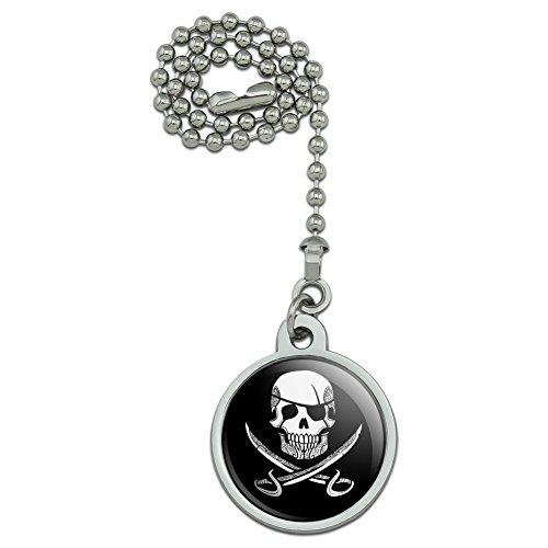 GRAPHICS & MORE Pirate Skull Crossed Swords Tattoo Design Ceiling Fan Light Pull Chain