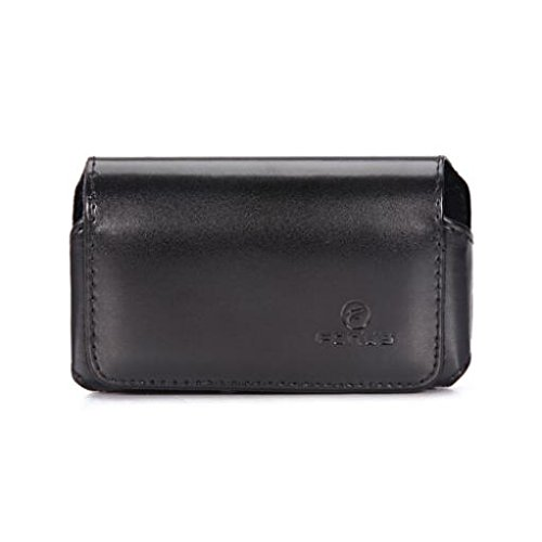 Black Horizontal Leather Case Cover Protective Pouch Belt Holster Swivel Clip for T-Mobile Blackberry Curve 8900 - T-Mobile Blackberry Curve 9315 - T-Mobile HTC MyTouch Magic - 8900 T-mobile Curve Blackberry