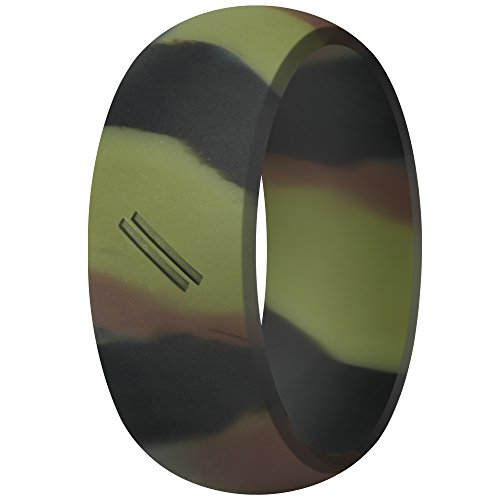 ThunderFit Silicone Wedding Ring for Men, Rubber Wedding