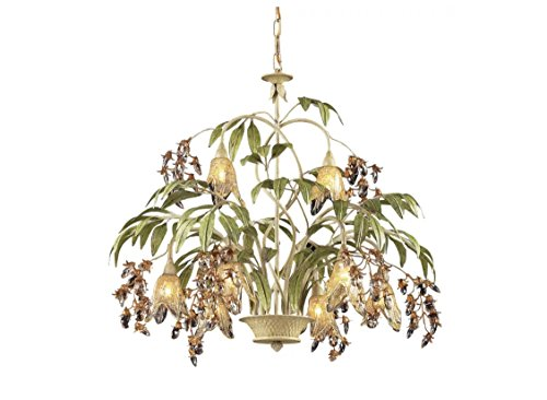 ELK Lighting 86054 Huarco 8-light Chandelier in Seashell and Amber Glass from ELK Lighting