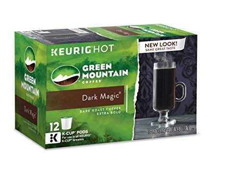Green Mountain Coffee Keurig Single-Serve K-Cup Pods, Dark Magic Dark Roast Coffee, 72 Count (6 Boxes of 12 Pods)