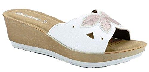 EU Femme Sandales pour Blanc Bianco 39 Inblu xYEOqpw11