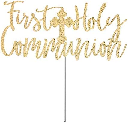 Party Deco D/écoration de g/âteau de Communion pour Fille Blanc