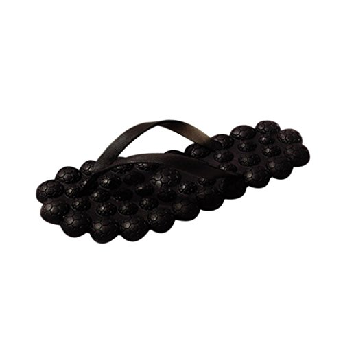 hunpta Fashion Women Massage Flat Heel Anti Skidding Beach Shoes Sandals Slipper Black 2BC2BwM2ly