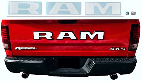 Reflective Concepts Ram Tailgate Emblem Overlay Decal Fits 2015 2018 Ram Rebel Color Flat Black