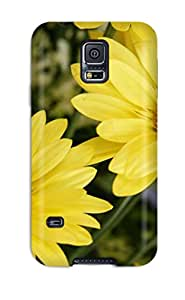 Hot Tpu Cover Case For Galaxy/ S5 Case Cover Skin - Yellow Flowers