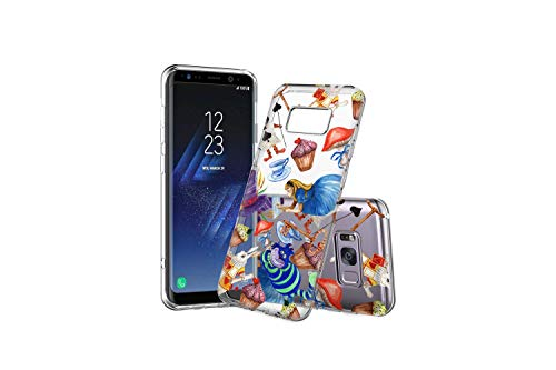 (Koldan Alice in Wonderland Pattern Samsung A9 A8 Plus A7 S9 Plus Samsung M10 M20 M30 Clear Case S10 Plus S9 S8 S10 S10e S10 5G S8 Plus Mad Tea Party Note 9 Note 8 Hatter Samsung A50 A30 Silicone md2)