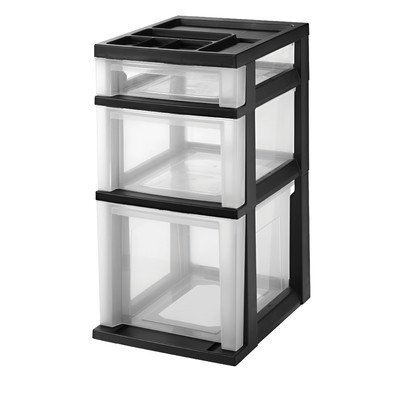 3 Drawer Filing Cart with Organizer Top