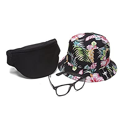 Men's Festival Accessory Kit w/Floral Bucket, Fanny Pack and Buddys 50%OFF