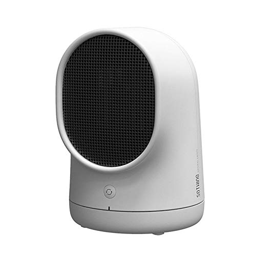 Fdgnb Portable Space Heater 500w Personal Mini Fan Heater Ceramic Small Heater with Thermostat & Tip Over Protection, White, for Home, Office, Bedroom