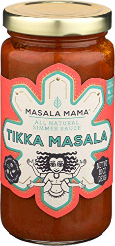 Masala Mama All Natural Indian Goan Coconut Curry Simmer Sauce - Delicious Traditional Seafood Simmering Salsa For Quick & Tasty Asian Recipes, Rice & Noodles, Organic & Fresh Ingredients - 10oz