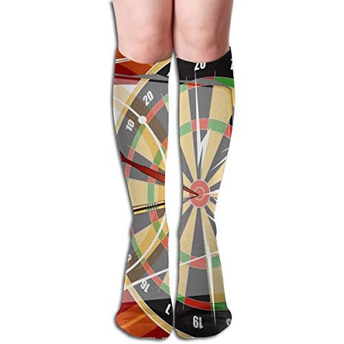 (Tube Knee High Socks 50CM Darts Player Men's Over-The-Calf Tube Sports Socks Extra Long Compression Stocking)