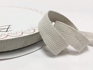 Bitte beachten Sie: Dies ist ein aus einer Rolle geschnitten, auf eine Bertie s Bows-Karte Bertie s Bows 10/mm wei/ß Baumwolle Herringbone Tape//Gurtband auf einem 4/m L/änge
