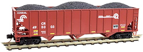 Micro-Trains MTL N-Scale 100-Ton 3-Bay Hopper Conrail/CR Quality Logo #495003 - Conrail Hopper