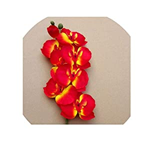 1pcs Fashion Butterfly Orchid Artificial Flowers Flower Head Party Home Decor Wedding Decoration Accessories Fake Flower,K 108