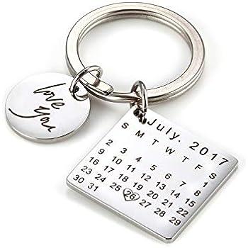custom keychain with date