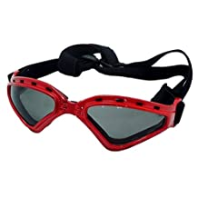 Pet Leso® Large Dog Goggles Pet V-type UV Glasses Protection Fashion Eyewear Golden Retriever Goggles -Red