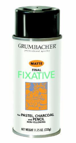 (GRUMBACHER 549 11-3/4-Ounce Final Fixative Matte Spray Can)