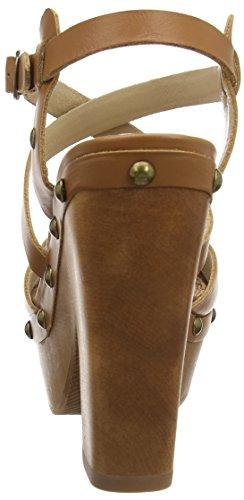 Pepe Jeans Joplin Preco, Women's Platform Sandals Brown - Braun (877nut Brown)