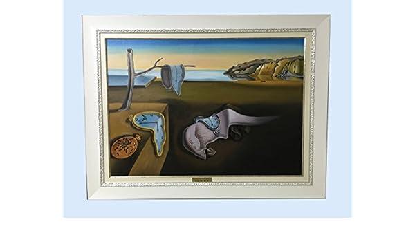 Cuadro Óleo sobre lienzo: SALVADOR DALÍ (LA PERSISTENCIA) - Replica realizada por copistas del Museo del Prado: Amazon.es: Hogar