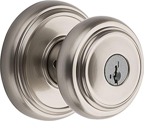 Baldwin Prestige Alcott Entry Knob featuring SmartKey in Satin Nickel