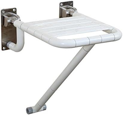 Cqq Badestuhl Faltbarer Duschstuhl-Anwendbar für ältere Menschen, Schwangere, Behinderte (Farbe : Weiß)