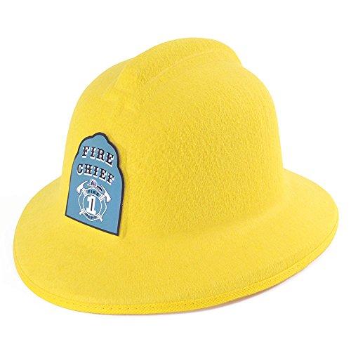Bristol Novelty BH496 Fireman Helmet Felt with Badge, Yellow, One Size for $<!--$3.71-->