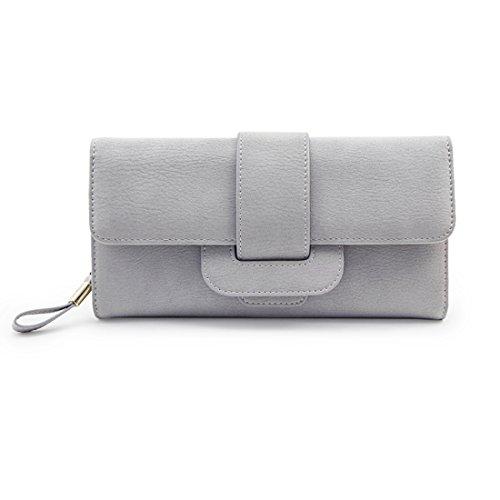 Women Large Capacity Zipper Long Clutch Wallet Leather Lady Elegant Purse Card Holder - Clutch Woman Wonder