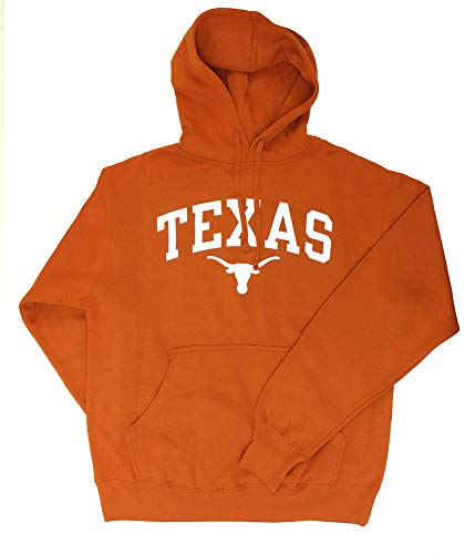 Elite Fan Shop Texas Longhorns Hooded Sweatshirt Arch Orange - XXL