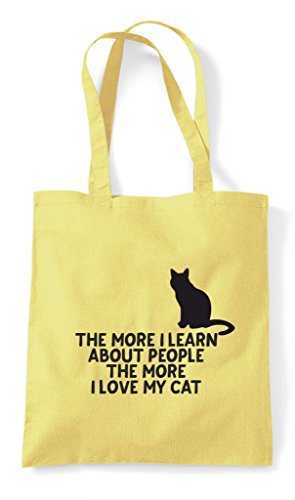 Bag Person Learn Lemon Cat More Animal Lover I Funny Love People About My Shopper Pets Tote The E86xnqFE