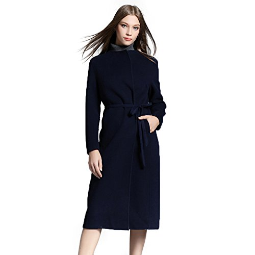 Wool Belt Tie Coat Jacket - 7
