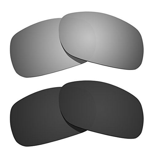 Two Pairs Littlebird4 Replacement Sunglasses Lenses Compatible with Oakley Twoface, Polarized with UV Protection - Sunglasses Mass Order