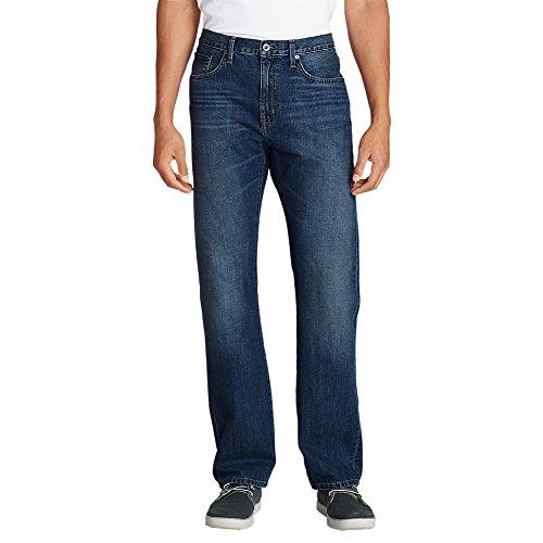 Eddie Bauer Men's Authentic Jeans - Relaxed Fit, Faded Indigo Regular 33/32 Regu
