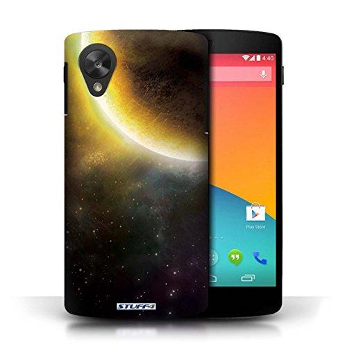 Kobalt® Imprimé Etui / Coque pour LG Google Nexus 5/D821 / Éclipse Jaune conception / Série Cosmos