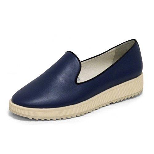 Andrew Stevens Womens Fanny Fashion Sneaker In Pelle E Pelle Marina