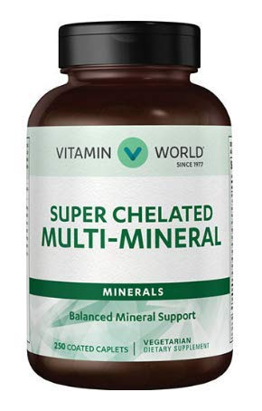Chelated Minerals - Super Chelated Multi - MineralsBalanced Mineral Support 250 Coated caplets