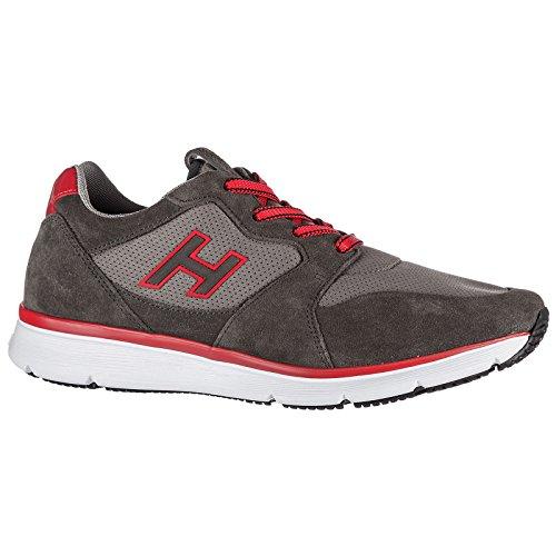 bae60367833cb Hogan Chaussures Baskets Sneakers Homme en Daim h254 h Flock Gris   Amazon.fr  Chaussures et Sacs